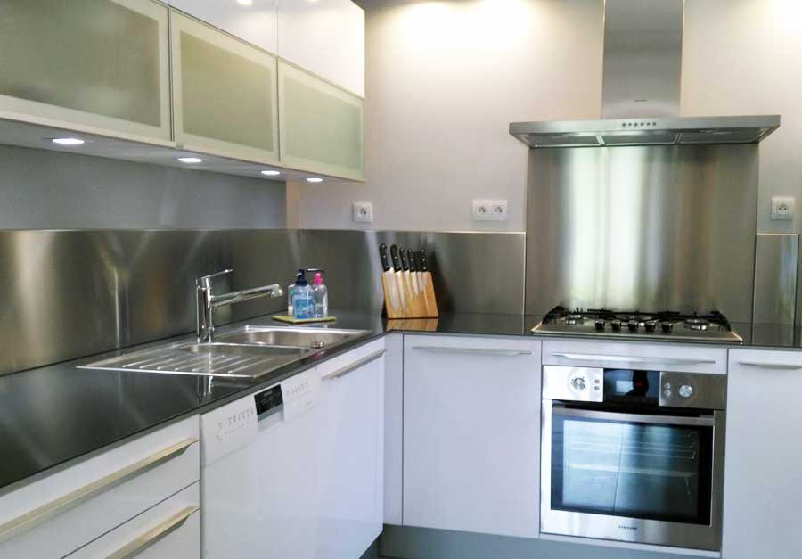 Plakinox photos cr dences inox r alisation de for Plaque inox cuisine sur mesure