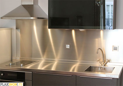 Plakinox photos cr dences inox r alisation de - Credence cuisine inox a coller ...